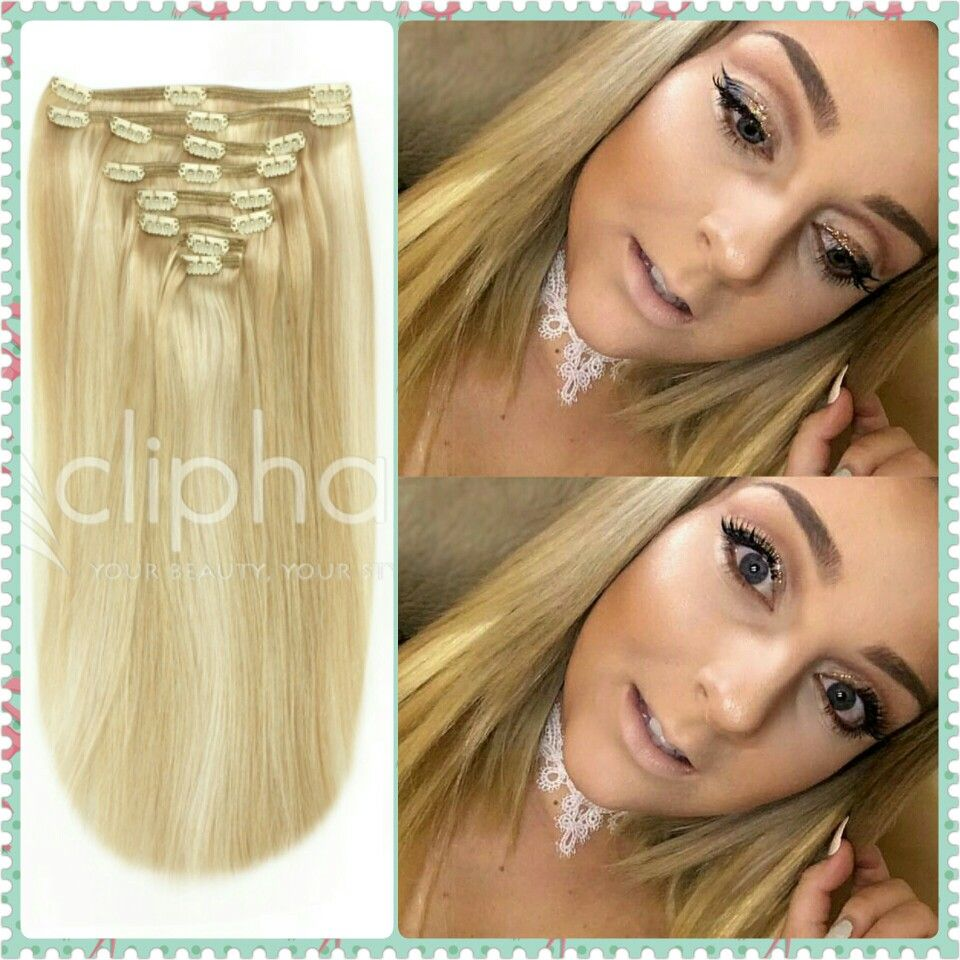 Spotted Wearing Cliphair Blonde Mix Extensions 100 Remy Real