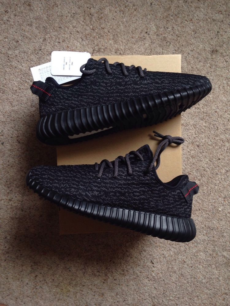 timeless design fb1c1 6d17b Adidas Yeezy 350 Boost Pirate Black Size UK 8 BNIB 100% Authentic Kanye West