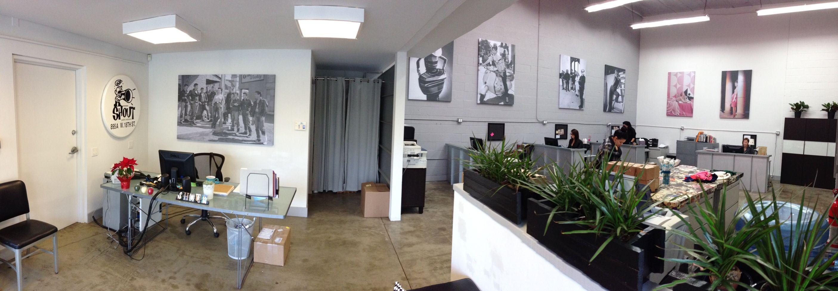 Recent interior installation ten feet x feet stretched canvas