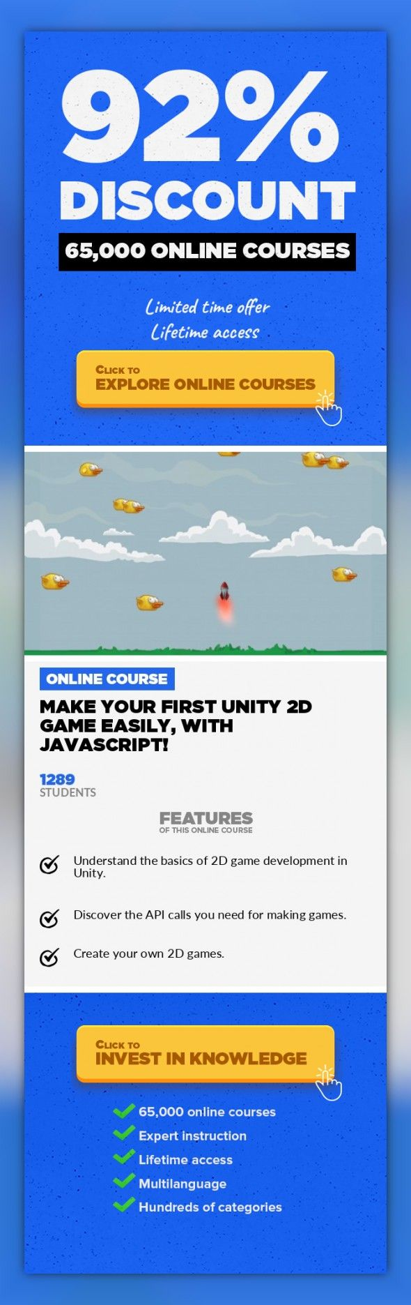 Make Your First Unity 2D Game Easily with Javascript Game