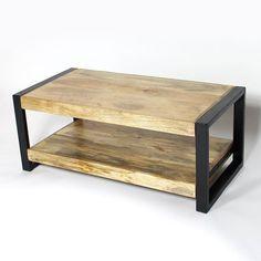 Cette Table Basse Bois Metal Fait Partie De Notre Collection New