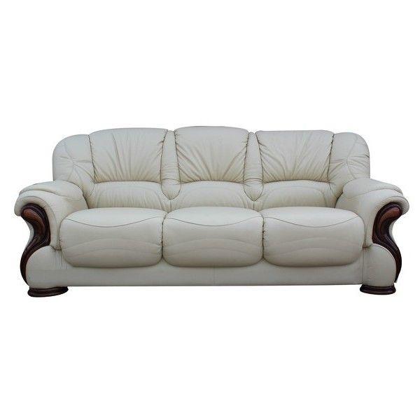 Susanna Italian Leather 3 Seater Sofa Settee Cream Offer Italian Leather Sofa Seater Sofa Sofa