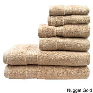 Austin Horn Classics Zero Twist 6 Piece Bath Towel Set Ecru