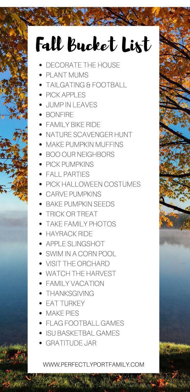 Fall Bucket List | Simple Purposeful Living