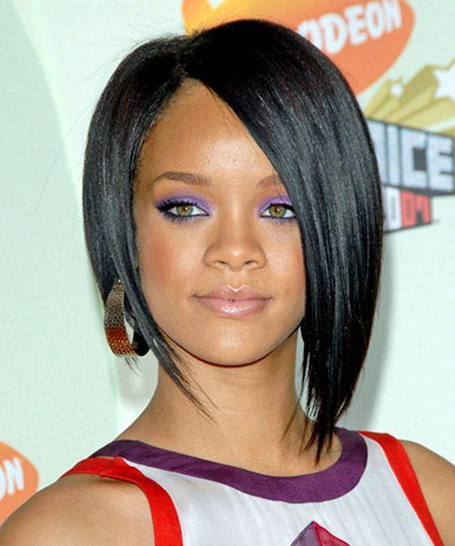 Rihanna Hairstyles Celebrity Hairstyles By Thehairstyler Com Rihanna Hairstyles Haircuts For Fine Hair Asymmetrical Bob Haircuts