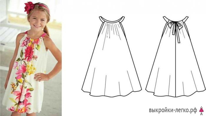 2f82a09d4e1 Как сшить летнее платье для девочки