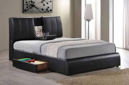 Best Acme Furniture Kofi Black Queen Bed 21270Q Google 400 x 300