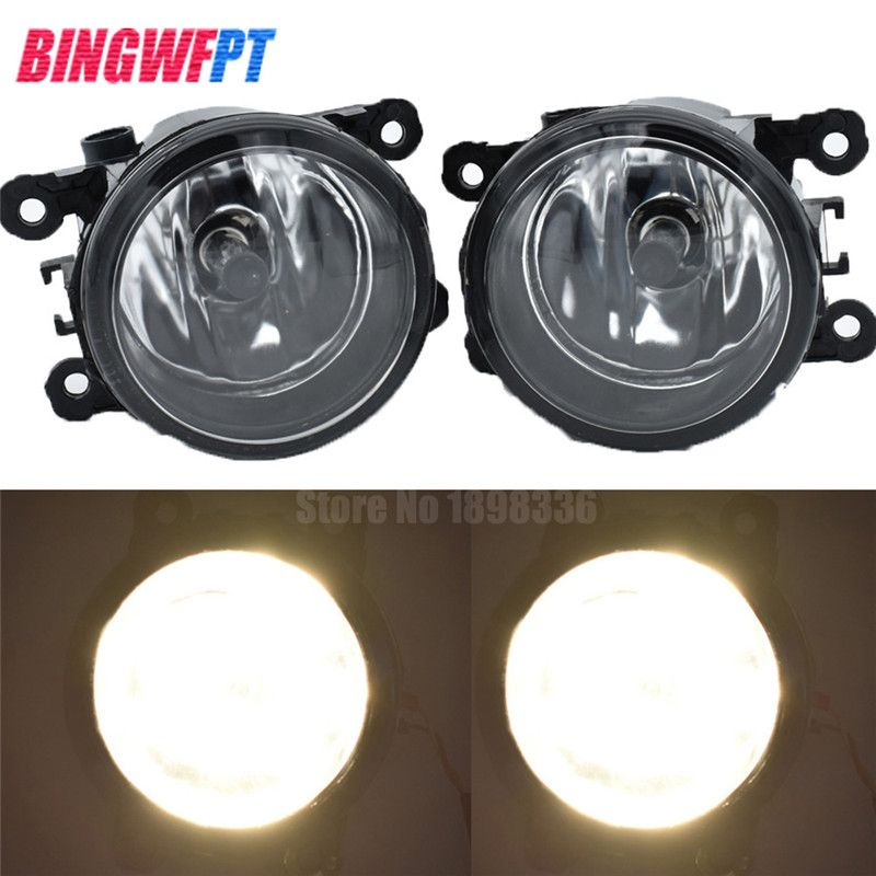 2pcs Car Styling Round Front Bumper Fog Lights DRL Daytime