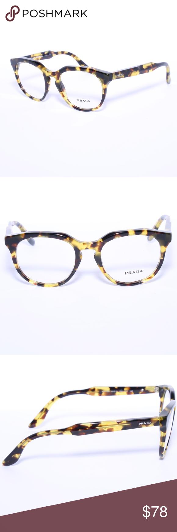 34d69923056 Prada VPR13S Eyeglasses Apple Green Havana Prada VPR13S Eyeglasses Frames  Apple Green Havana UBN-1O1 48mm Brand new 100% authentic Comes with Generic  Case
