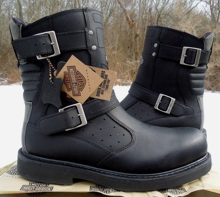 harley davidson mens james black leather motorcycle boot. Black Bedroom Furniture Sets. Home Design Ideas