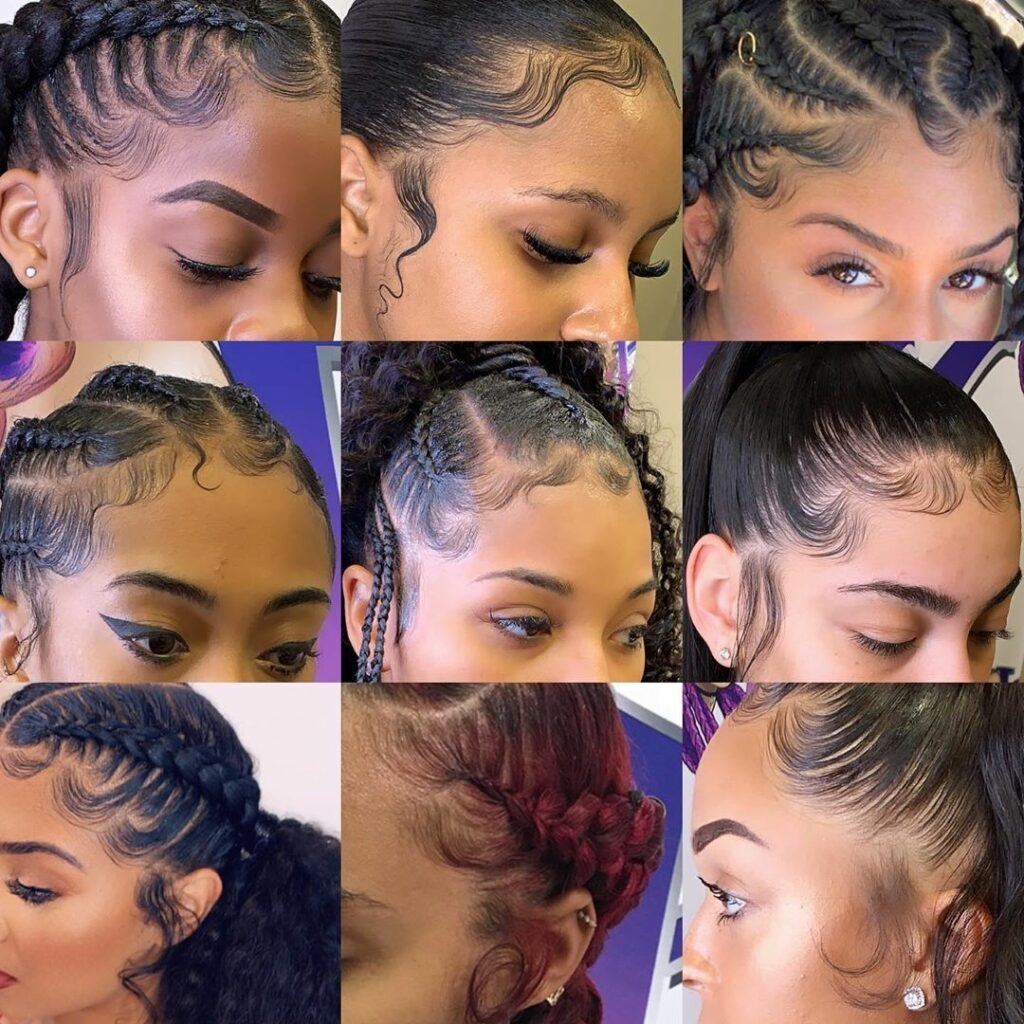 Laid Edges The Best Of The Best Photos Of Baby Hairs Slayed Edges Hair Baby Hairstyles Hair Styles