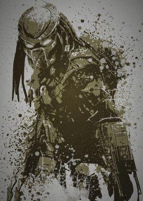 """""""Predator""""  Splatter effect artwork inspired by the Predator from The Predator films"""