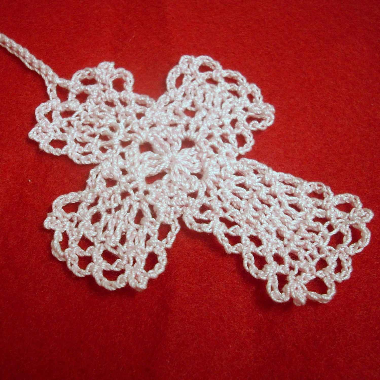 Lacy Crochet Cross Bookmark