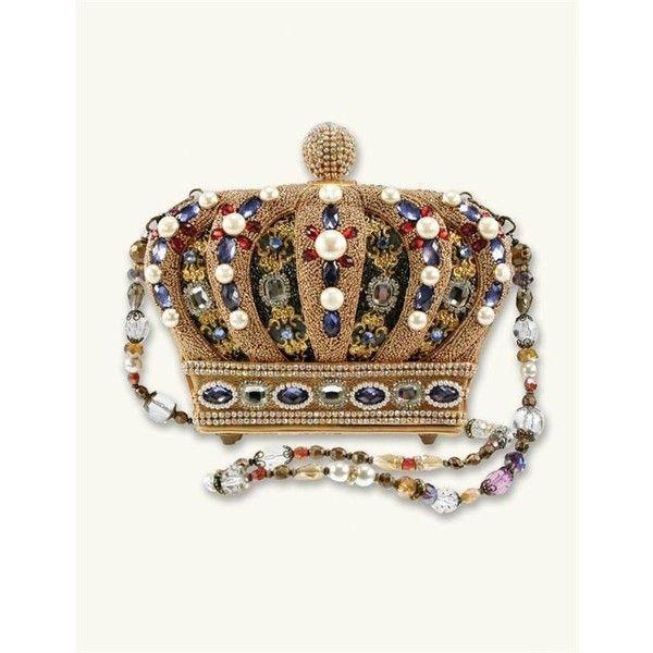 Mary Frances Queendom Handbag (€280) ❤ liked on Polyvore featuring bags, handbags, white hand bags, handbag purse, white purse, man bag and purse bag