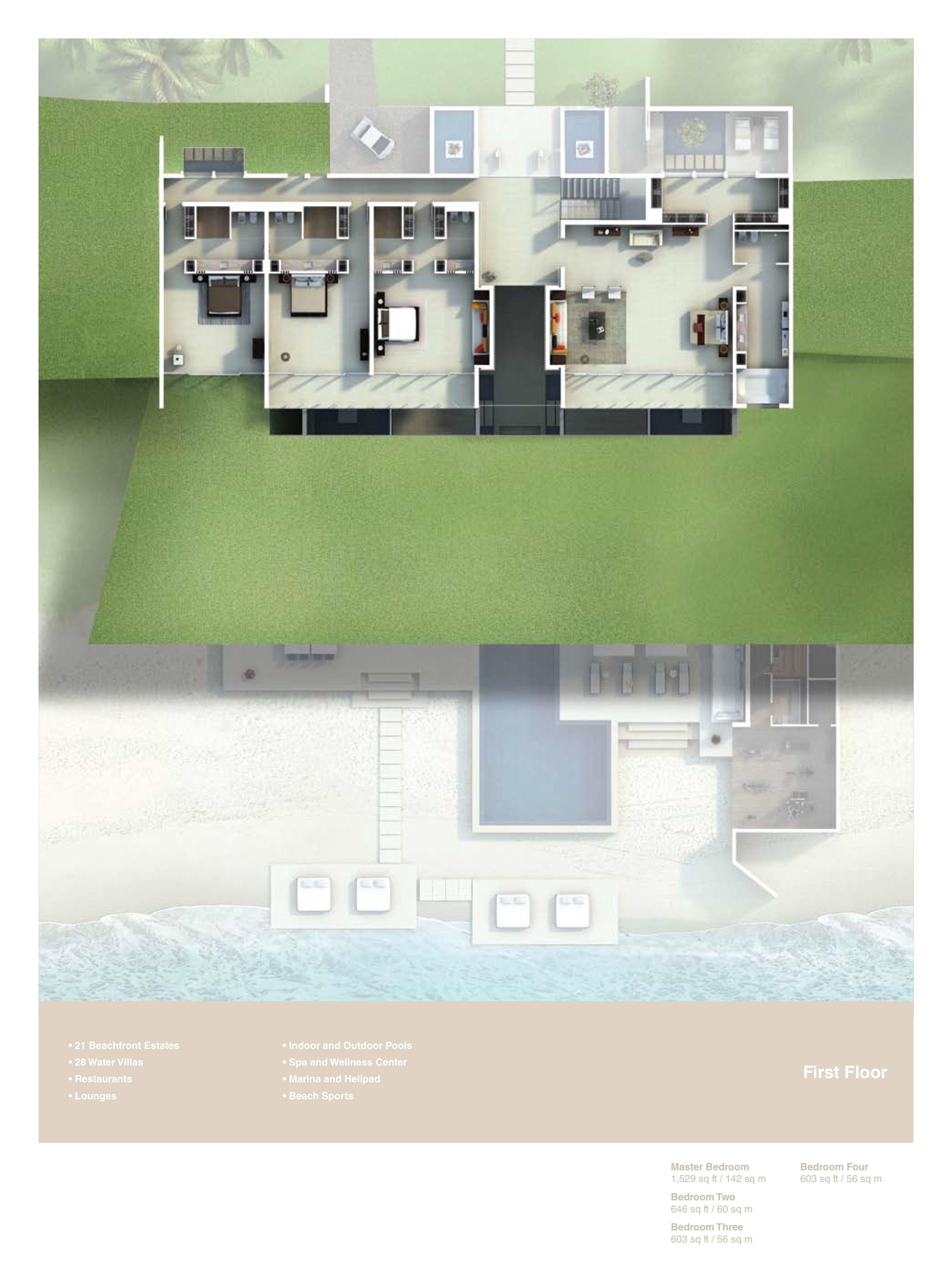 Nurai Beachfront Estate Villa Floor Plans Nurai Island Abu Dhabi Uae Plantas De Casas Projetos De Casas Projeto Arquitetura
