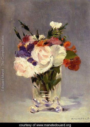 Flowers In A Crystal Vase I by Edouard Manet http://mf.tt/AiBOJ @GoogleExpertUK #Manet #art