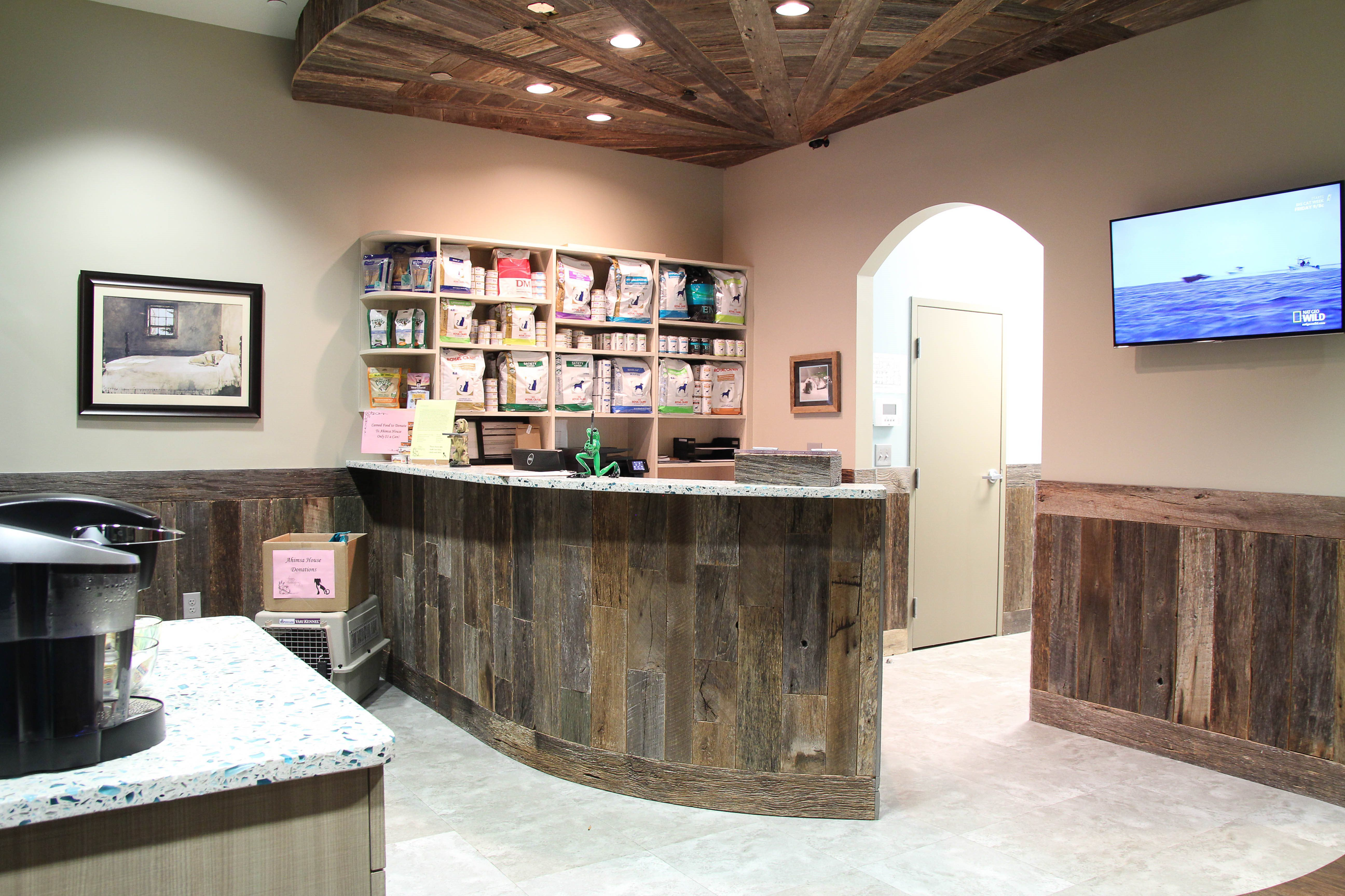 Front Desk of Town Center Animal Clinic Designed by Blue