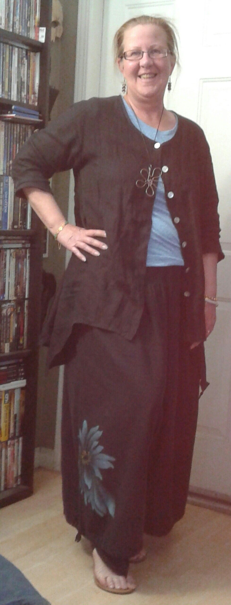 d074372d245 Saga linen jacket and Cheyenne linen cotton harem pants.