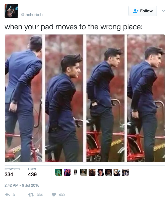 When you have to do the adjustment dance: | 31 Period Jokes That Are Just Really Fucking Funny