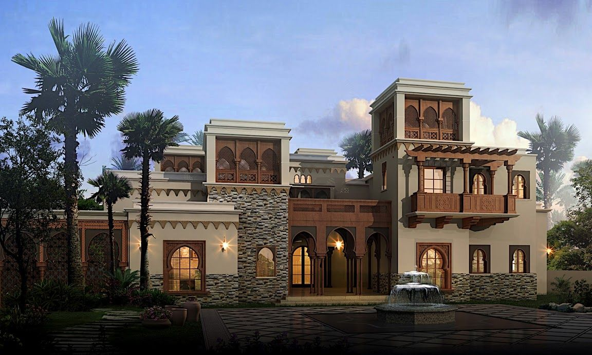 Arabic style villa section 02 by dheeraj mohan at coroflot for Arabic home design
