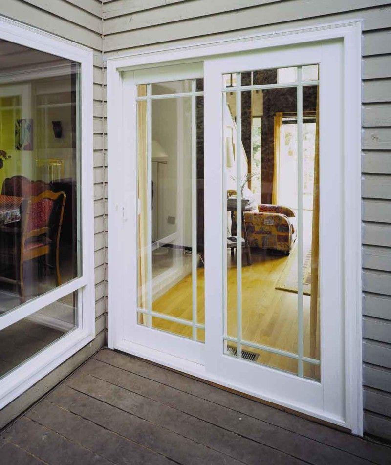 White Vinyl Sliding French Patio Doors New Home Ideas Pinterest