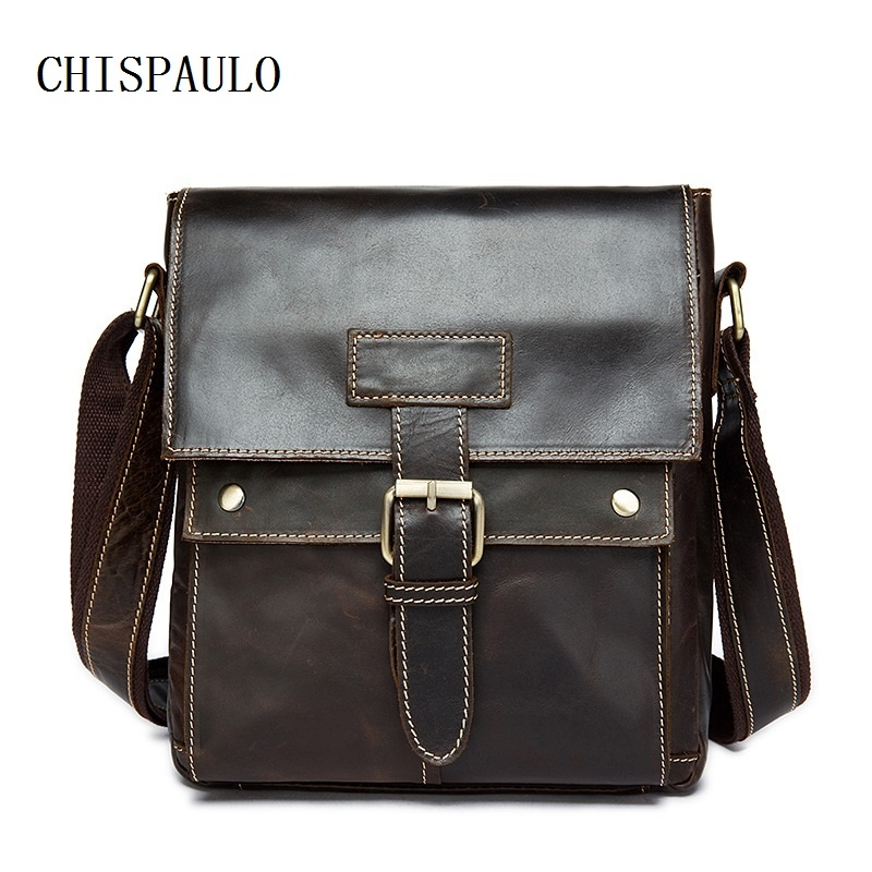 (30.00$)  Know more - http://aiqmy.worlditems.win/all/product.php?id=32797121860 - CHISPAULO Genuine Leather Vintage Men Bags Briefcase Crossbody Bag Men's Leather Bags NEW leisure men's handbag Vintage new T676