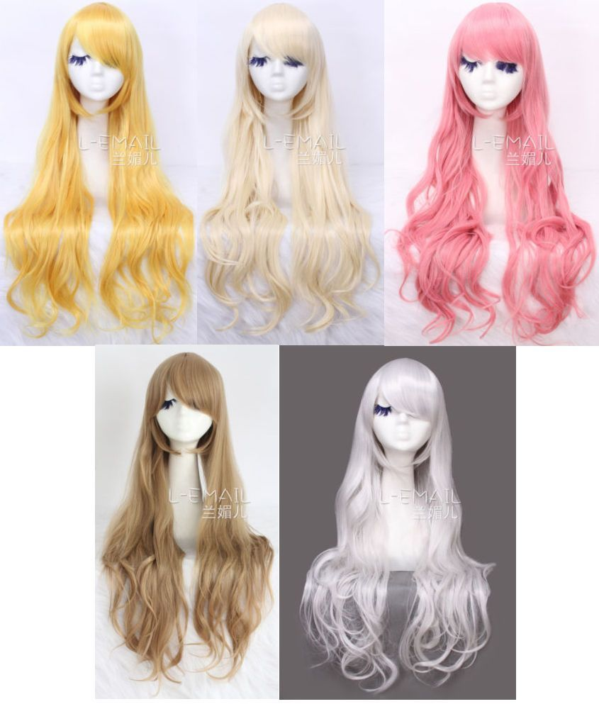Lolita Harajuku Synthetic Long Curly Wave Hair Party Anime Full Cosplay Wigs