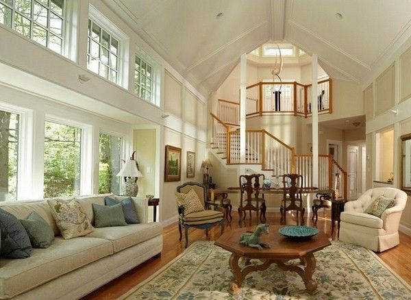 aristocratic ceiling decorated living room with a highhttp