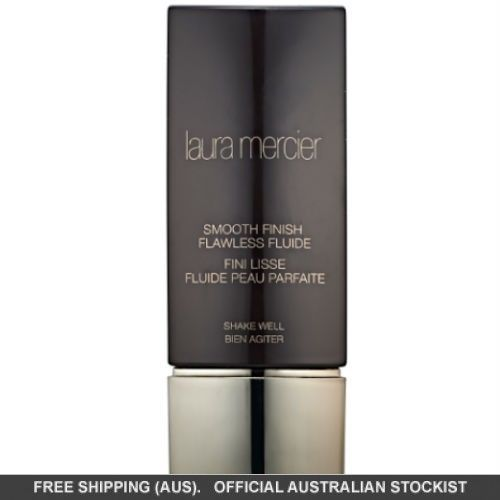 Laura Mercier Smooth Finish Flawless Fluide Foundation is a long-wear, oil-free foundation that magically blurs the line between real skin and makeup. Shake & tap to activate!
