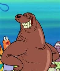 Craig Mammalton is an extremely tanned seal who gets respect due to his excellent tan.  He throws exclusive beach parties that only the Tan can attend.  Spongebob and Patrick are excluded until they can achieve the darkest shade.