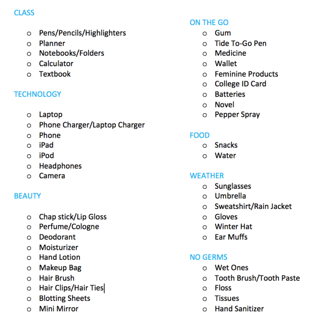 Kitchen Organization List: Ultimate College Backpack Essentials List
