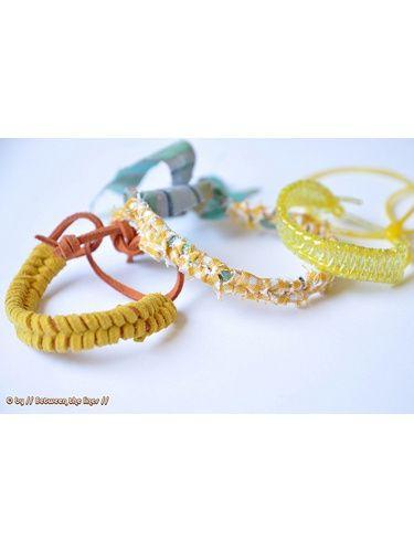 J'adore ces petits bracelets pour l'été :