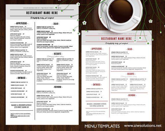 Food Menu Templates Printable Restaurant Template Elegant Menus French Templa