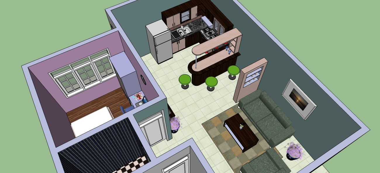 Make An Interior Design With Google Sketchup With Images