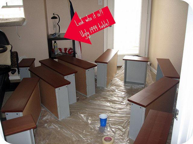 17 meilleures id es propos de meubles en stratifi - Peindre sur du stratifie ...