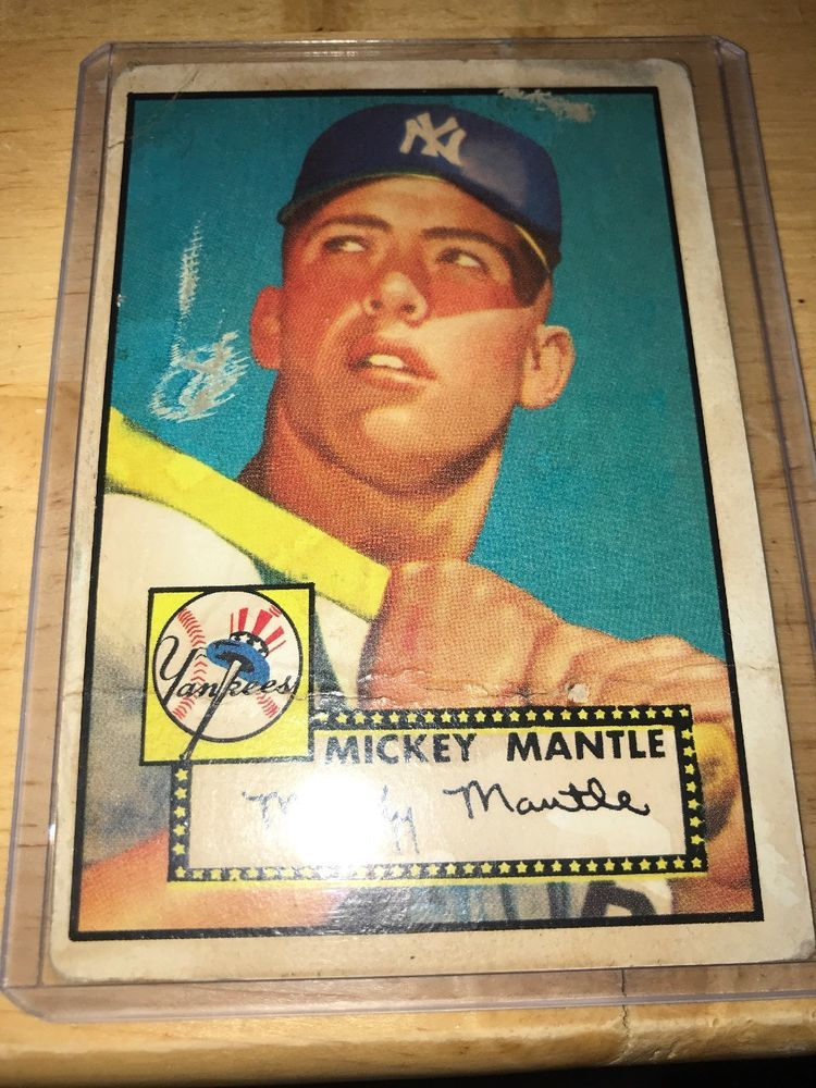 1952 Topps Mickey Mantle New York Yankees 311 Type 1