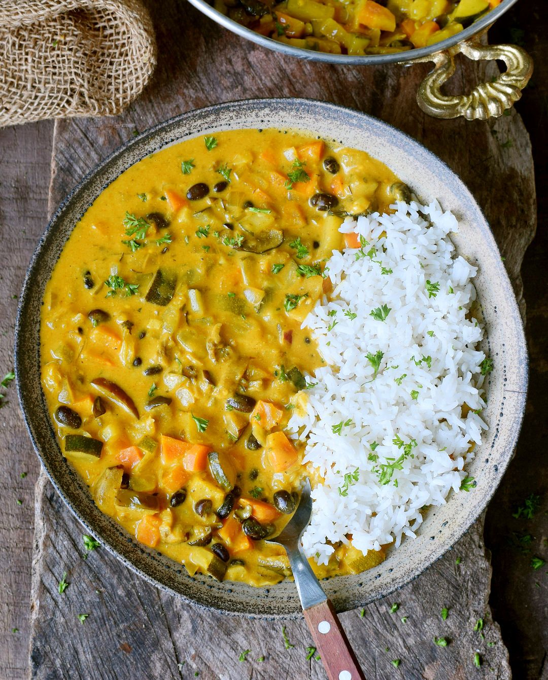 Vegetable Curry Recipe With Coconut Milk Pineapple And Chickpeas Or Beans With Images Vegetable Curry Recipes Slow Cooker Vegetable Curry Vegetable Curry Coconut Milk