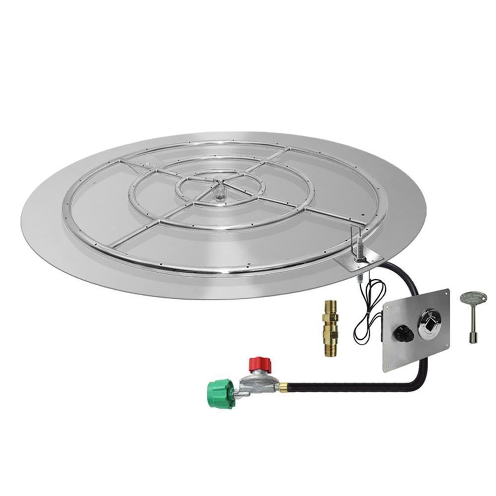 Starfire Designs Round Fire Pit Burner Kit Spark Ignition With