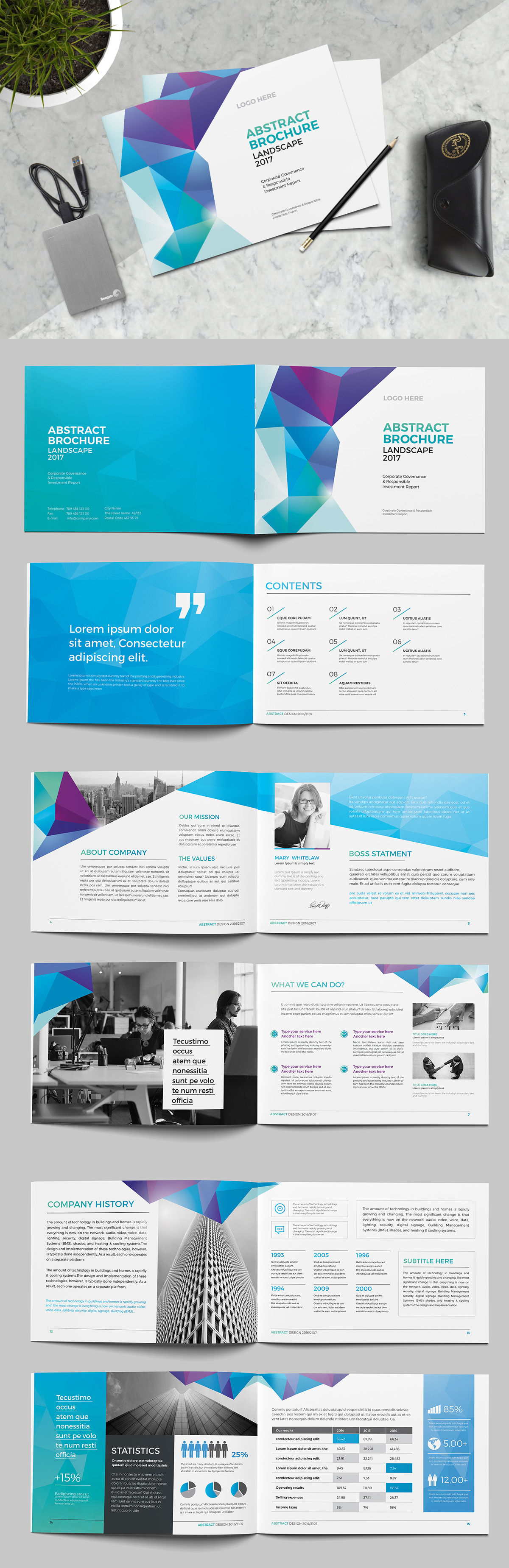 abstract landscape brochure template indd brochure templates