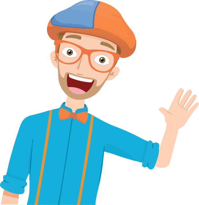Blippi Library of Clipart Transparent Download in 2020