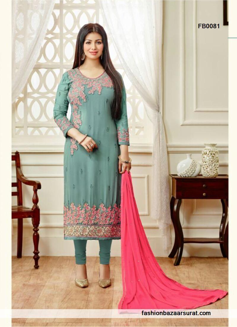 buy Snazzy See Green Santoon Churidar Salwar Suit online, buy ...