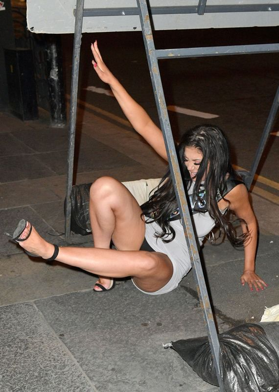 Celebrity drunk upskirt #6