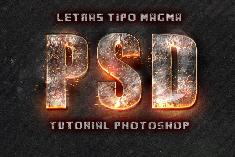 Poster design using photoshop cs5 - Letras Estilo Magma Tutorial Adobe Photoshop Cs5 Cs6 Espa Ol