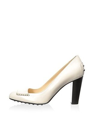 Tod's Women's New Loafer Pump (White)