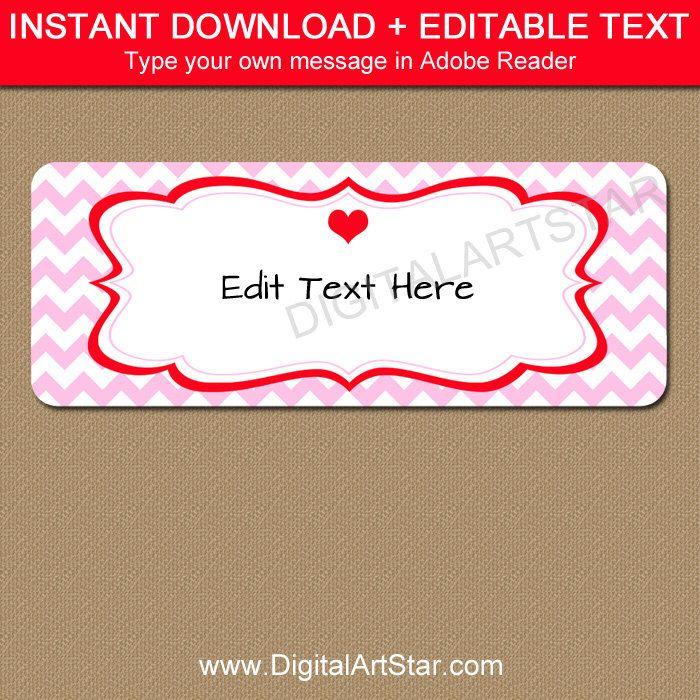 Valentines Day Return Address Labels  Printable Valentine Address