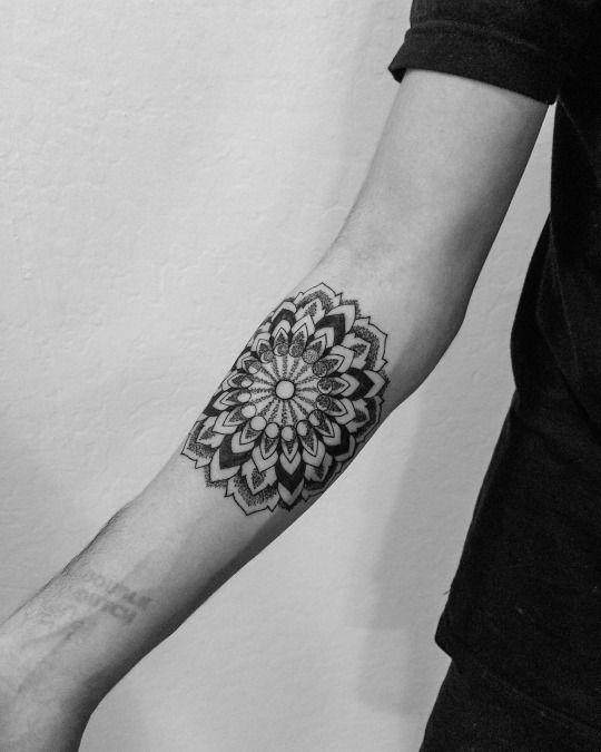 Geometric Tattoos Portland: Mandala Forearm, Oliver Kenton Geometric Dotwork Award