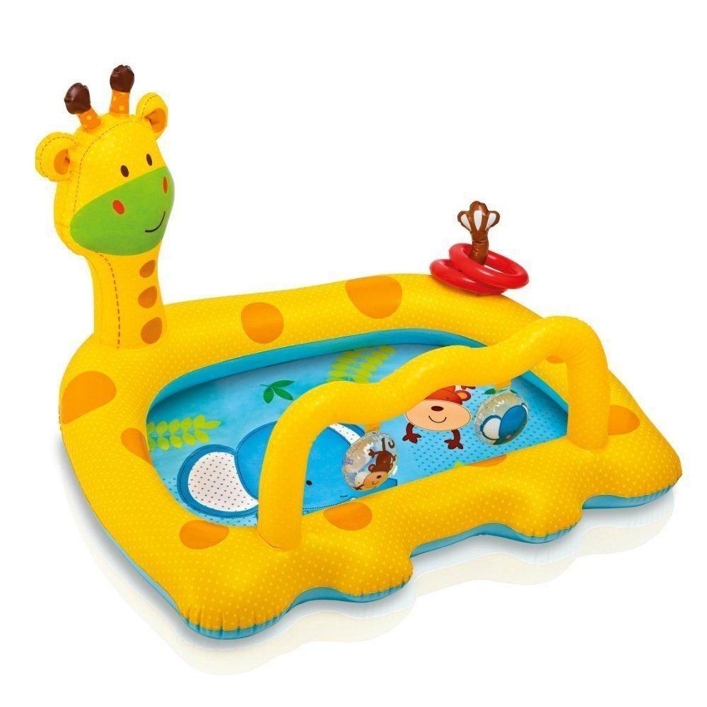 Baby Pool Intex Smiley Giraffe Inflatable Kids Swimming Wading Kiddie Pool Toy Intex Inflatable Baby Pool Baby Pool Pool Toys