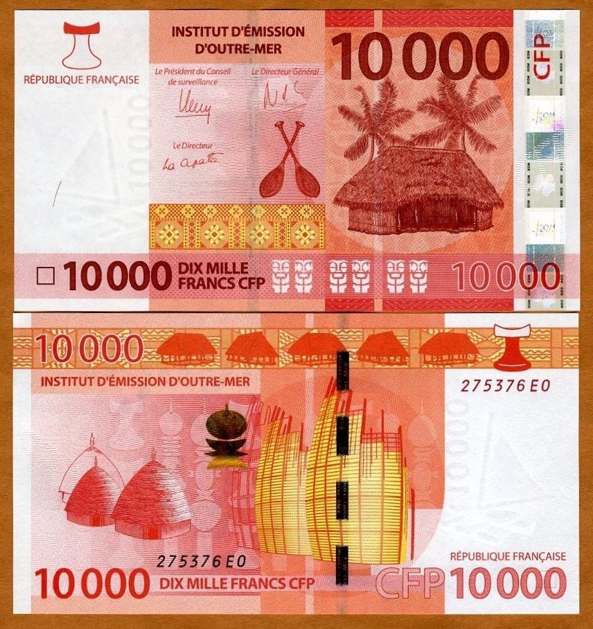 FRENCH PACIFIC TERRITORIES 1000 FRANCS BANKNOTE 2014 UNC NEW ISSUE