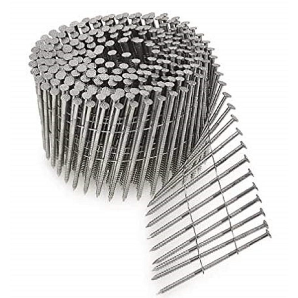 Simpson Strong Tie 6d 2 In 15 Wire Coil Full Round Head Ring Shank Siding Nail 1 800 Pack T13a200snj Stainless Steel Fasteners Stainless Steel Nails Stainless Steel Wire