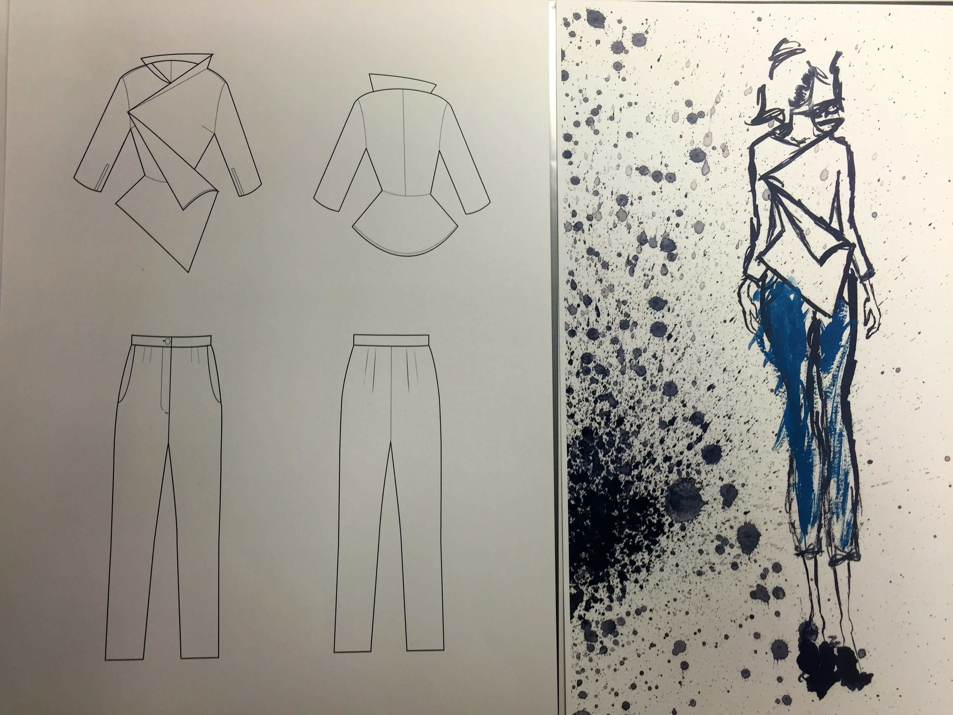 Technical illustrations for garments are essential this is a